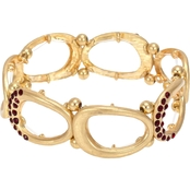 Carol Dauplaise Goldtone Link Stretch Bracelet