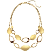 Carol Dauplaise Goldtone Two-Row Metal Link Necklace