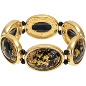 Carol Dauplaise Goldtone Oval Stretch Bracelet