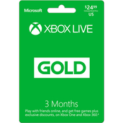 Xbox Live 3 Month Gaming Card