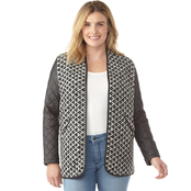 Passports Jacquard Tapestry Open Front Cardigan