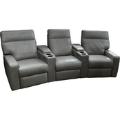 Omnia Italian Lyndsey Collection Leather Home Theater Seating