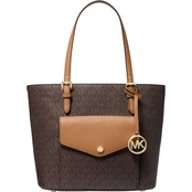 Michael Kors Jet Set Medium Pocket Multifunction Signature Tote