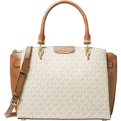 Michael Kors Rochelle Large Leather Satchel