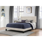 Hillsdale Delaney Fog Fabric Bed in One