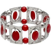Jules b Red Shell Stretch Bracelet
