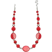 jules b Red Shell 18 in. Short Necklace