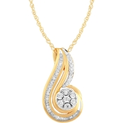 Love Honor Cherish 14K Yellow Gold Over Sterling Silver 1/4 CTW Diamond Pendant