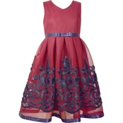 Bonnie Jean Little Girls Embroidered Border Dress