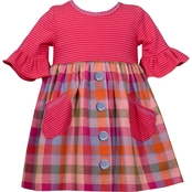 Bonnie Jean Little Girls Flannel Babydoll Dress