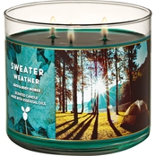 Bath & Body Works Fall Traditions Sweater Weather 3 Wick Candle