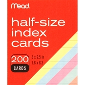 Mead Color 3 x 2.5 in. Index Cards 200 ct.