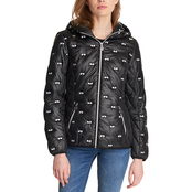Karl Lagerfeld Embroidered Sunglasses Puffer Coat