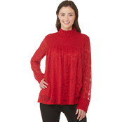 JW Smock Neck Lace Top
