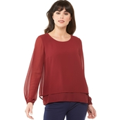 Michael Kors Petite Cut Out Back Top
