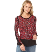 MICHAEL KORS MULTI WOODLAND WOVEN TOP