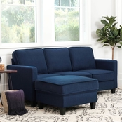 Abbyson Kenzie Fabric Sofa and Ottoman 2 pc. Set