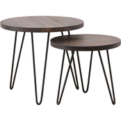 Abbyson Terrance Industrial Nesting 2 pc. Coffee Table Set