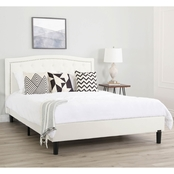 Abbyson Marianne Tufted Upholstered Bed