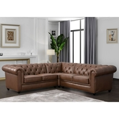 Abbyson Kingston Chesterfield Sectional