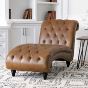 Abbyson Ainsley Tufted Chaise