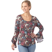 Passports Paint Stroke Paisley Print Top
