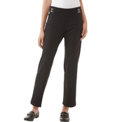 Passports Slim Leg Ponte Pants