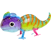 Metal Colorful Chameleon Statue