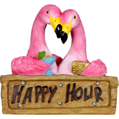 Solar Happy Hour Flamingos