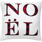 Noel Applique On Sherpa Pillow