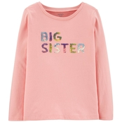 Carter's Little Girls July Sparkle Shop Big Sister Top