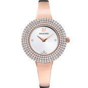 Swarovski Crystal Rose Watch, Metal Bracelet, White, Rose Gold Tone PVD