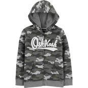 OshKosh B'gosh Little Boys Camo Zip Fit Logo Hoodie