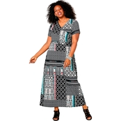 Avenue Plus Size Abstract Print Maxi Dress