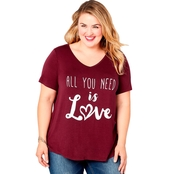 Avenue Plus Size All You Need Is Love Tee