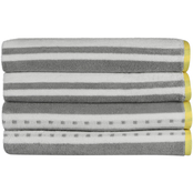 1888 Mills Freshee Bath Towel Set Aqua Stripe 4 pk.