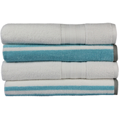1888 Mills Freshee Solid and Stripe Bath Towel 4 pk.