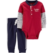 Carter's Infant Boys Layered Look Henley Bodysuit Pants 2 pc. Set