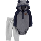 Carter's Infant Boys Bodysuit Pant Sets Navy Hood