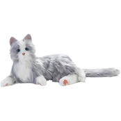 Joy for All Companion Pet Cat Silver with White Mitts