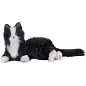 Joy for All Companion Pet Cat, Black and White Tuxedo