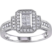 1/3 CT TW Diamond Halo Engagement Ring in 14k White Gold