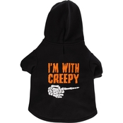 Petco Bootique I'm With Creepy Dog Hoodie