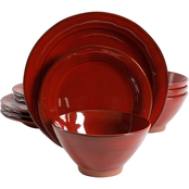 Gibson Elite Terranea Dinnerware Set Red