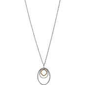 Lucky Brand Point Triple Hoop Pendant Necklace