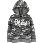OshKosh B'gosh Toddler Boys Camo Logo Full Zip Hoodie