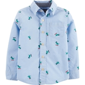 OshKosh B'gosh Toddler Boys Dinosaur Button Front Shirt