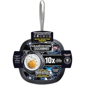 Granite Stone Diamond Nonstick Square Fry Pan, 12 in.