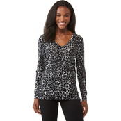 Michael Kors Long-Sleeve Printed Sweater