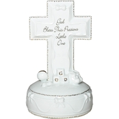 Roman God Bless This Little One Musical Cross